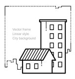 Έμβλημα εξοχικών σπιτιών και πολυκατοικίας Στοκ φωτογραφία με δικαίωμα ελεύθερης χρήσης
