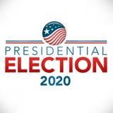 Έμβλημα επιγραφών εκλογής με την ψηφοφορία διανυσματική απεικόνιση