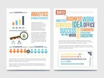 Έμβλημα επιχειρησιακού analytics που τίθεται με τους επιχειρηματίες Στοκ Εικόνα