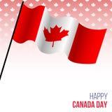 Έμβλημα ημέρας του Καναδά με τη σημαία Στοκ Φωτογραφίες