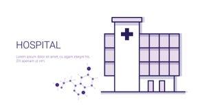 Έμβλημα Ιστού προτύπων επιχειρησιακής έννοιας ιατρικής περίθαλψης νοσοκομείων με το διάστημα αντιγράφων Στοκ Εικόνες