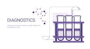 Έμβλημα Ιστού προτύπων επιχειρησιακής έννοιας ιατρικής περίθαλψης διαγνωστικών με το διάστημα αντιγράφων Στοκ εικόνες με δικαίωμα ελεύθερης χρήσης