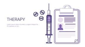 Έμβλημα Ιστού προτύπων επιχειρησιακής έννοιας ιατρικής περίθαλψης θεραπείας με το διάστημα αντιγράφων Στοκ φωτογραφία με δικαίωμα ελεύθερης χρήσης