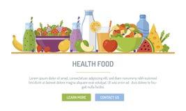 Έμβλημα Ιστού υγιεινής διατροφής Στοκ φωτογραφία με δικαίωμα ελεύθερης χρήσης