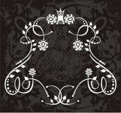 Έμβλημα με τις floral αμπέλους απεικόνιση αποθεμάτων