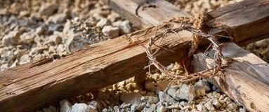 Έμβλημα Πάσχας που τιμά την μνήμη της σταύρωσης Στοκ Εικόνα