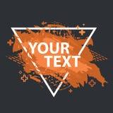 Έμβλημα παφλασμών Grunge Διανυσματικές ετικέτες splatter με το διάστημα για το κείμενο Ετικέτα Grunge Στοκ Εικόνα