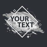 Έμβλημα παφλασμών Grunge Διανυσματικές ετικέτες splatter με το διάστημα για το κείμενο Ετικέτα Grunge Στοκ Εικόνες