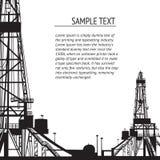 Έμβλημα πλατφορμών άντλησης πετρελαίου για το κείμενό σας. Στοκ εικόνες με δικαίωμα ελεύθερης χρήσης
