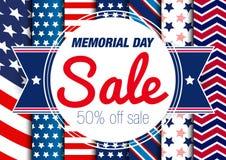 Έμβλημα πώλησης ημέρας μνήμης στοκ εικόνα