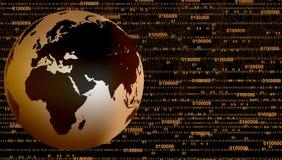 Έμβλημα τεχνολογίας σφαιρών Υπόβαθρο επιχειρησιακής τεχνολογίας απεικόνιση αποθεμάτων
