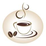Έμβλημα φλυτζανιών καφέ ελεύθερη απεικόνιση δικαιώματος