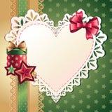 Έμβλημα χαιρετισμού καρδιών Στοκ εικόνες με δικαίωμα ελεύθερης χρήσης
