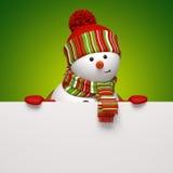 Έμβλημα χιονανθρώπων Στοκ φωτογραφία με δικαίωμα ελεύθερης χρήσης