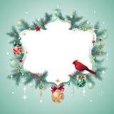 Έμβλημα Χριστουγέννων Στοκ Εικόνες