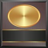 έμβλημα χρυσό Στοκ Εικόνες