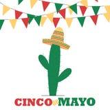 Έμβλημα Cinco de Mayo Στοκ Φωτογραφίες