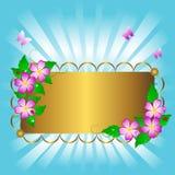 έμβλημα floral Στοκ εικόνες με δικαίωμα ελεύθερης χρήσης