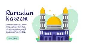 Έμβλημα Ramadan Kareem Ιστού που χαιρετά την έννοια ελεύθερη απεικόνιση δικαιώματος