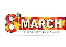 Έμβλημα έννοιας ημέρας γυναικών Στοκ εικόνες με δικαίωμα ελεύθερης χρήσης