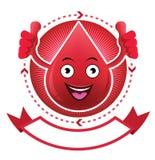 Έμβλημα αίματος χαμόγελου κινούμενων σχεδίων Στοκ φωτογραφία με δικαίωμα ελεύθερης χρήσης