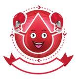 Έμβλημα αίματος χαμόγελου κινούμενων σχεδίων Στοκ εικόνα με δικαίωμα ελεύθερης χρήσης