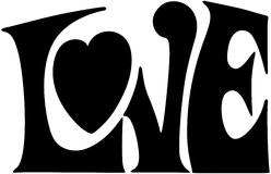 Έμβλημα αγάπης Στοκ φωτογραφίες με δικαίωμα ελεύθερης χρήσης