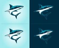 Έμβλημα απεικόνισης καρχαριών Στοκ εικόνα με δικαίωμα ελεύθερης χρήσης