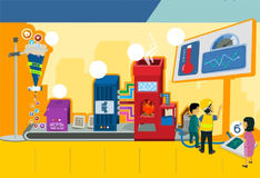 Έμβλημα βιομηχανίας προτύπων Infographic διανυσματική απεικόνιση