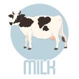Έμβλημα γάλακτος αγελάδων Στοκ φωτογραφίες με δικαίωμα ελεύθερης χρήσης