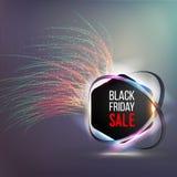 Έμβλημα για τη μαύρη πώληση Παρασκευής Στοκ φωτογραφία με δικαίωμα ελεύθερης χρήσης