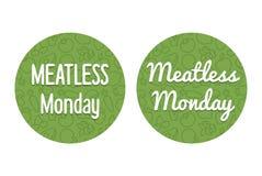 Έμβλημα Δευτέρας Meatless Στοκ φωτογραφίες με δικαίωμα ελεύθερης χρήσης