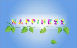 Έμβλημα ευτυχίας απεικόνιση αποθεμάτων