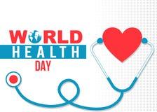 Έμβλημα ημέρας παγκόσμιας υγείας Στοκ Εικόνες