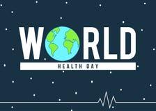 Έμβλημα ημέρας παγκόσμιας υγείας Στοκ φωτογραφία με δικαίωμα ελεύθερης χρήσης