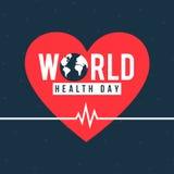 Έμβλημα ημέρας παγκόσμιας υγείας Στοκ Φωτογραφία