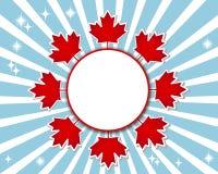 Έμβλημα ημέρας του Καναδά. Στοκ Εικόνες