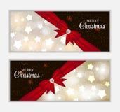 Έμβλημα ιστοχώρου Χριστουγέννων και υπόβαθρο καρτών Στοκ Εικόνες