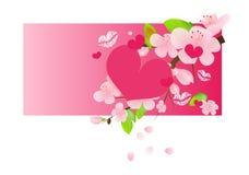 Έμβλημα Ιστού αγάπης Στοκ Εικόνες