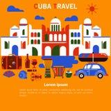 Έμβλημα Κούβα Αβάνα τουρισμού ελεύθερη απεικόνιση δικαιώματος