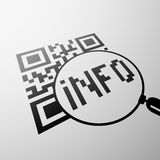 Έμβλημα κώδικα Qr πορτοκαλί απόθεμα απεικόνισης ανασκόπησης φωτεινό Στοκ εικόνες με δικαίωμα ελεύθερης χρήσης
