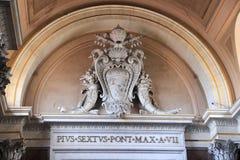 Έμβλημα μέσα στο μουσείο πόλεων του Βατικανού Στοκ Εικόνες