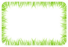 Έμβλημα με τα σύνορα φιαγμένα από πράσινη χλόη Στοκ Φωτογραφία