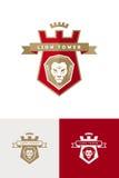 Έμβλημα με το κεφάλι λιονταριών Στοκ εικόνα με δικαίωμα ελεύθερης χρήσης