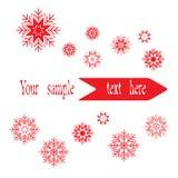 Έμβλημα με snowflakes Στοκ εικόνα με δικαίωμα ελεύθερης χρήσης