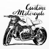 Έμβλημα μοτοσικλετών συνήθειας διανυσματική απεικόνιση