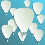 Έμβλημα μπαλονιών ζεστού αέρα εγγράφου με τις σκιές πτώσης Στοκ Φωτογραφίες