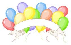 έμβλημα μπαλονιών ζωηρόχρωμ& Στοκ εικόνες με δικαίωμα ελεύθερης χρήσης