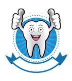 Έμβλημα δοντιών χαμόγελου κινούμενων σχεδίων Στοκ φωτογραφία με δικαίωμα ελεύθερης χρήσης