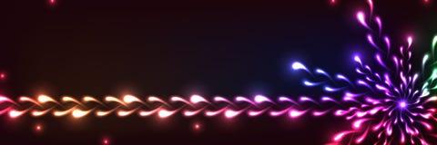 Έμβλημα λουλουδιών πυρκαγιάς φωτεινό διανυσματική απεικόνιση